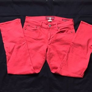 Lucky Brand Sweet N Crop Red Jeans Sz 2 26 EUC 4